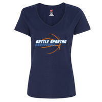 Ladies V-Neck Cotton T Thumbnail